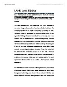 The Enactment Of The Land Registration Act  Offers An  Page  Zoom In