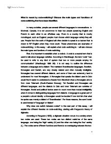 russian english code switching examples Code switching in spoken english class liu yang introduction this paper investigates how code switching functions as a medium of communicative tool between students in a spoken class in hubei university of china russian-english code switching examples essay.