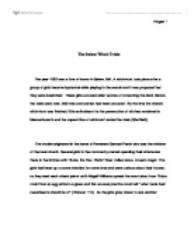 salem witch trials essay thesis