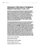 henry v is primarily concerned war and the glory of war we  shakespeare s illustrations of kingship in richard ii and henry iv pts i amp amp amp ii