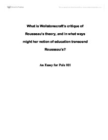 Hobbes, Locke, Rousseau and Wollstonecraft