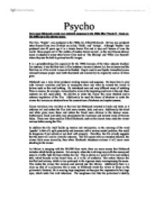 """suspense and tension in film psycho essay Elements of suspense – film informatics – medialogy - group 8 – copenhagen – december 2003 2 classic suspense scenes many of the so-called classic suspense films were made by hitchcock in the period spanning from the early 40s to the mid 60s including films such as """"shadow of a doubt"""" (1943), """"spellbound."""