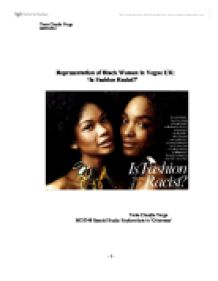 essay on representation of black women in the media Open document below is an essay on portrayal of black women in media from anti essays, your source for research papers, essays, and term paper examples.