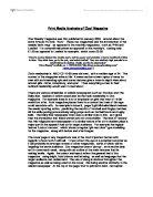 semiotic analysis of advertisements university media studies  print media analysis of zoo magazine