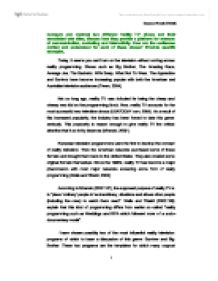 essay tv essay tv essay on perception tv about extrasensory cheap  compare and contrast two different reality tv shows and their page 1 zoom in