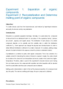 Extraction and evaporation recrystallization essay