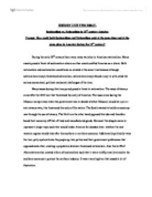 Nationalism vs sectionalism essay outline