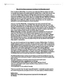 Essay on beveridge report