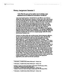 welfare the governments failure essay