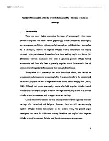 attitudes of university students in lebanon towards homosexuality Third-party attitudes toward sibling incest: evidence for  comparing university students' reactions to the  attitudes towards sex and.