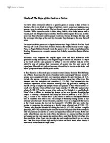 Rape of the lock satirical devices essay