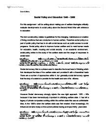 welfare ideologies essay Social welfare ideologies essays abstract social theory that draws an association between darwin.
