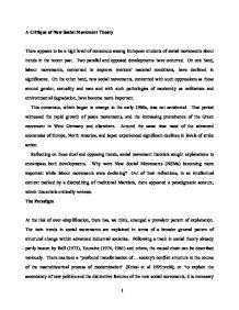 Social movement theory essay