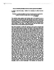 Soc 333 social movement and gender paper