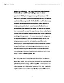 aspect of care essay the post operative care following a  page 1 zoom in