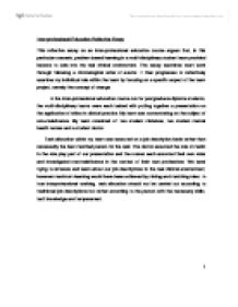 interprofessional education reflective essay this reflective  page 1 zoom in