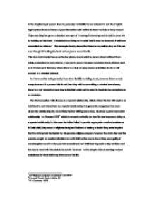 Criminal Law Essay Outline