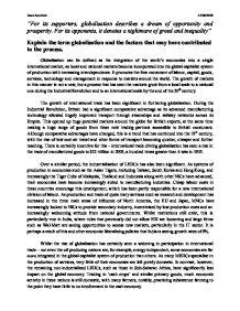 global economy essay topics