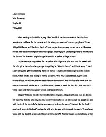 Business Essay Writing The Crucible Essay Questions Crucible Essay Poemdoc Or Personal Essay Examples High School also Thesis Statement For An Argumentative Essay The Crucible Essay Questions  Mistyhamel Essay On My School In English