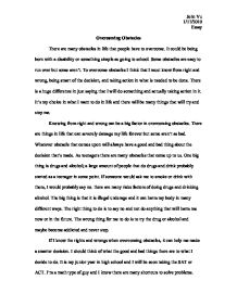 Essay On My School In English Overcoming Obstacles Essay Order An Essay Inexpensively  The Best Essay On Business Ethics also Sample Of English Essay Adversity Essays  Hepatitze Persuasive Essay Samples High School