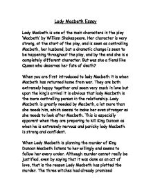 essay on how macbeth and lady macbeth change Macbeth - character changes and his trust in the witches which ultimately change him lady macbeth seems to be almost opposite compared to essays share.