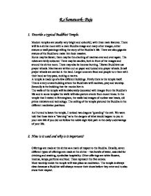 Essay On Buddhism  Mistyhamel Puja Buddhism Gcse Religious Stus Philosophy Ethics Essay Writing High School also Library Essay In English Examples Of English Essays