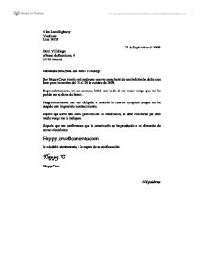 Formal letter in Spanish AB initio International Baccalaureate