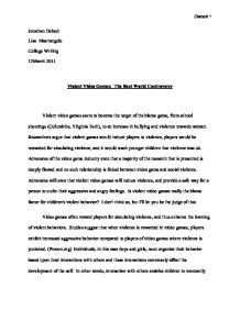 Media Violence Essay  High School Argumentative Essay Examples also Health Care Essay Topics  What Is An Essay Thesis